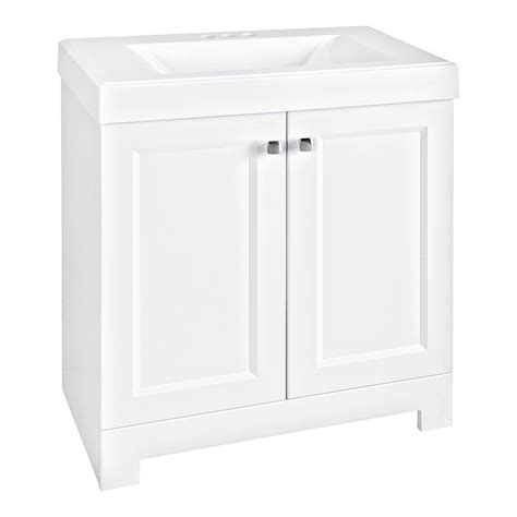 White Vanity Marble Top Glacier Bay Shaila 30 5 In W Bath Vanity In White With Cultured Marble Vanity Top In White With