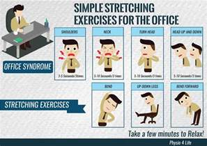 exercises for the office infographic post