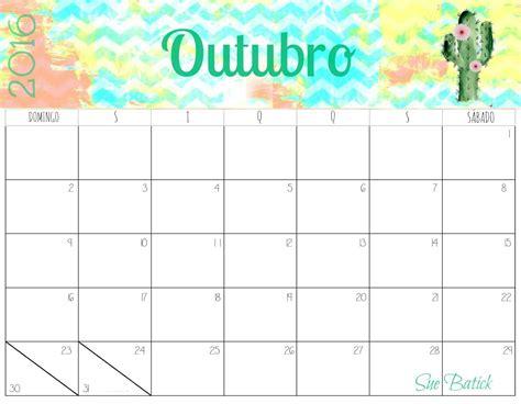 Calendario 2018 Mes De Outubro Calend 225 Rios De Outubro 2016 Para Imprimir Freitas