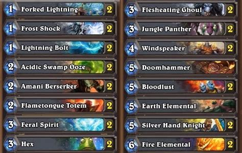 shaman deck hearthstone card foundry shaman deck 10 to 20