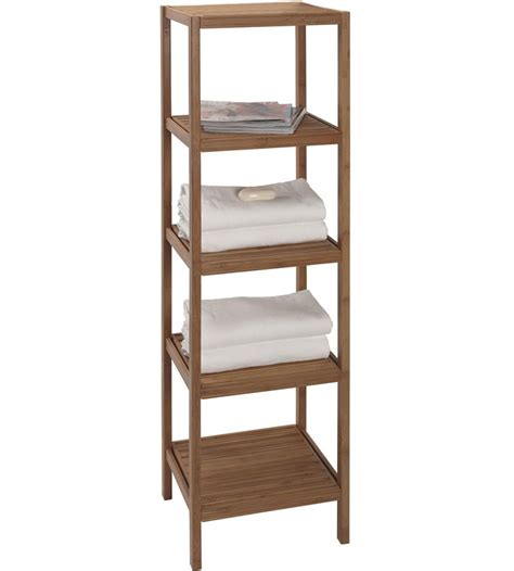 Shelving Units For Bathrooms Bamboo Shelving Unit In Bathroom Shelves