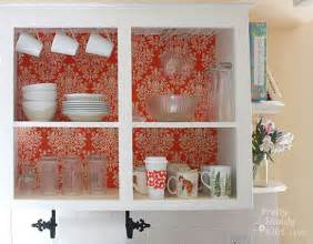 Diy Kitchen Cabinet Doors Designs by Fabric Backed Open Kitchen Cabinets Diy On A Dime The