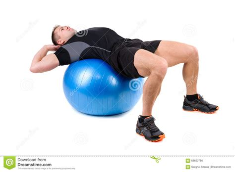 abdominal fitball exercises stock photo image of start abdominal 68653766