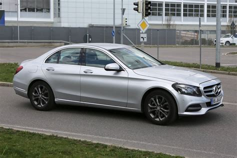 facelifted mercedes c class spied