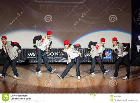 russia teen stage photo on stage band called da boom editorial stock photo