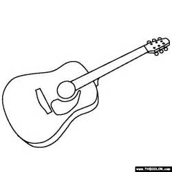 guitar coloring page coloring pages pinterest