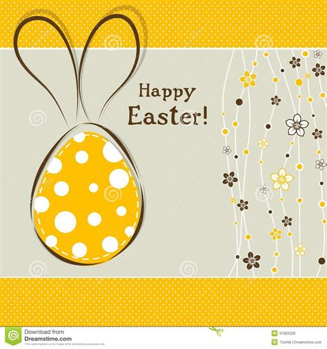 3d Easter Card Templates by Template Easter Greeting Card Vector Royalty Free Stock