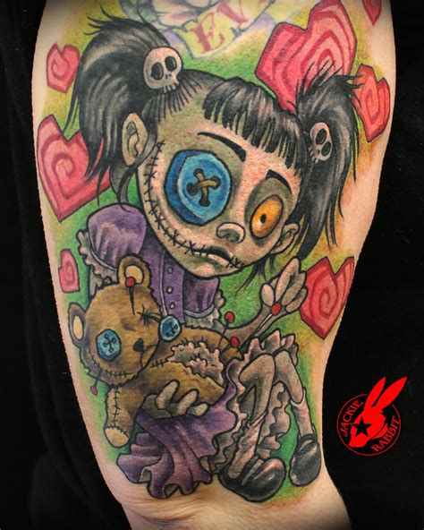 voodoo doll tattoo creepy doll tattoos newhairstylesformen2014