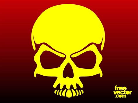 cool vector skull vector art amp graphics freevector com
