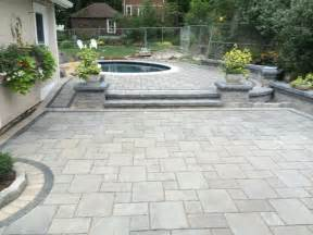 Tumbled Bluestone Patio Paver Pool Patio With Steps And Retaining Walls By Bahler