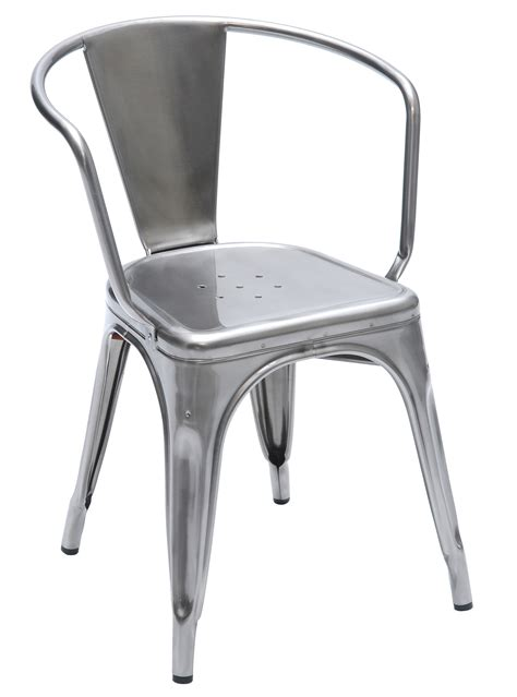 chaises tollix a56 stackable armchair steel indoor glossy varnished by tolix