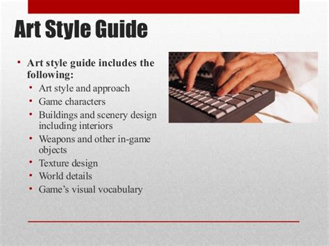 design style guide meaning game development pre production