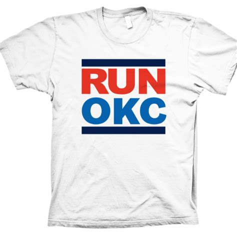 T Shirt White Run Okc hiphopdx quot run okc quot t shirt hiphopdx