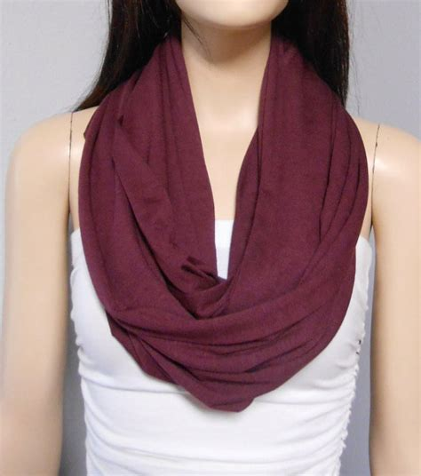 maroon knit infinity scarf wine burgundy maroon infinity scarf by