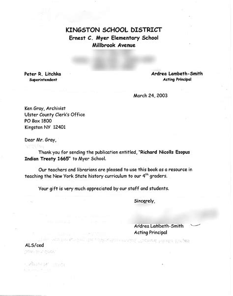 Complaint Letter Sle To School Principal Ulster County Archives Testmonials