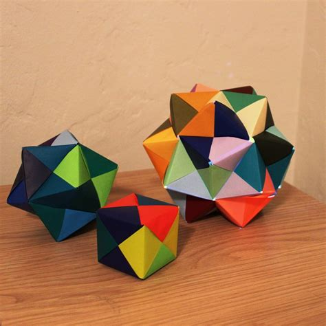 stellated icosahedron origami origami nightlight made of sonobe units emily longbrake