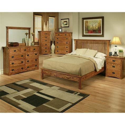 oak bedroom furniture sets mission oak rake bedroom set queen howard hill furniture