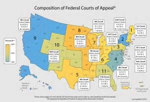 federal district court map judicialnominations org