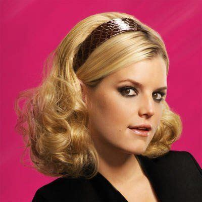 pictures of using jessica simpsons hair extensions on short hair hairdo by ken paves jessica simpson mid length headband