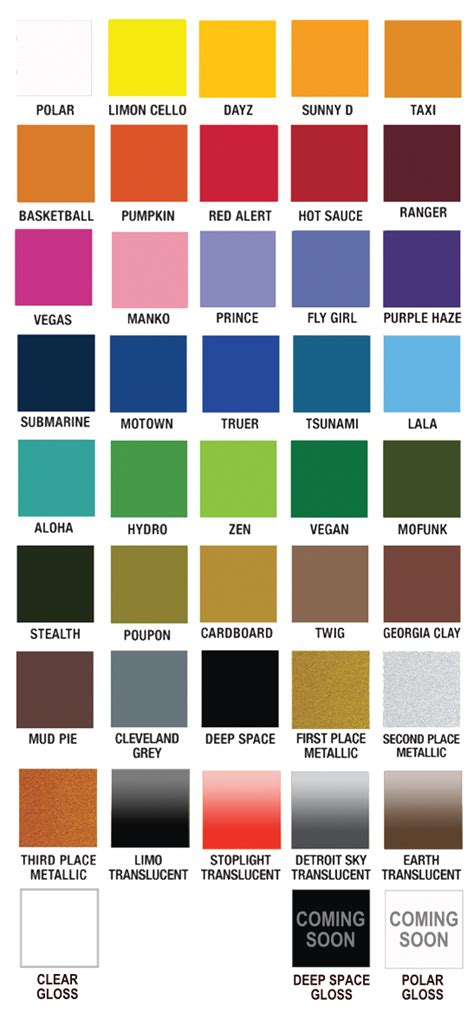 spray colors plutonium paint color chart our products