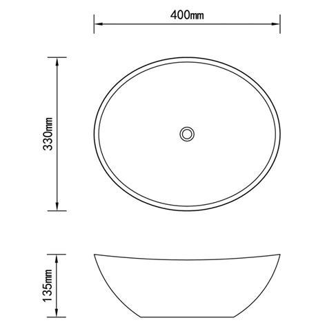 lavello bianco lavello bianco in ceramica di lusso a forma ovale 40 x 33