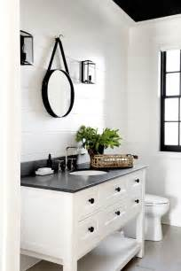 Related post with stylish modern black and white double sink bathroom