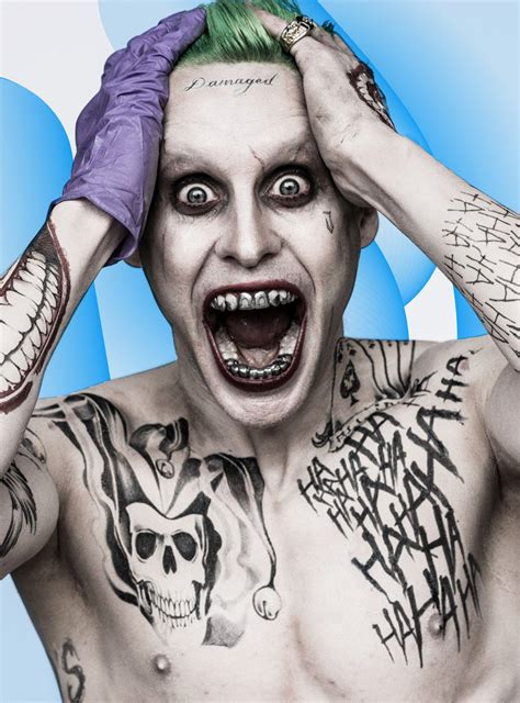 jared leto tattoo why does jared leto s joker so many tattoos joker