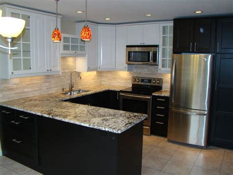 white and brown kitchen cabinets ikea kitchen cabinets with ramsjo black brown doors at the