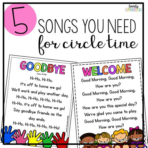 song pre k 5 songs you need for preschool circle time sing song