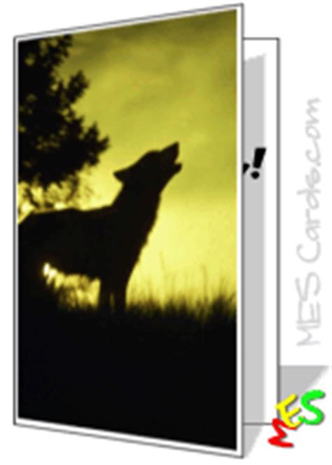 printable wolf birthday cards printable cards wolves