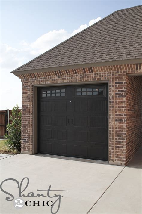 Garage Doors House Update Shanty 2 Chic Shop Garage Door