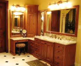 Makeup Vanity With Hutch Tuscan Bath Mediterranean Bathroom Philadelphia By