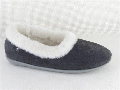 free step slippers free step house shoes warm fur lined suede slippers