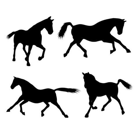 imagenes vectores de caballos siluetas de caballos descargar vectores gratis