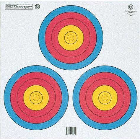 printable vegas targets vegas 3 spot colour target triangle sioux archery