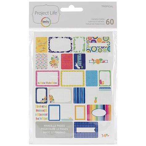 american crafts project american crafts project themed cards 60 pack