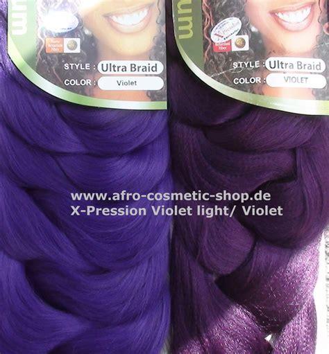 Voliet Xpression Hair   x pression 174 ultra braid farbe violet medium afro