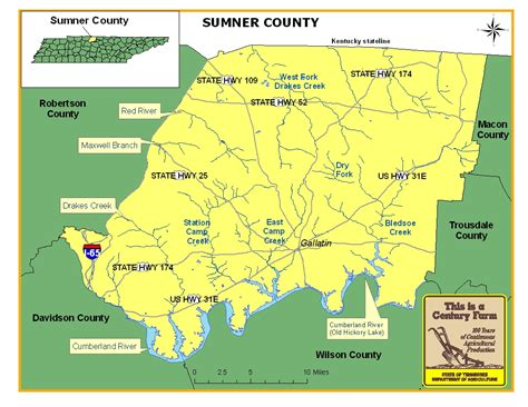 map of sumner county tn sumner county tennessee century farms