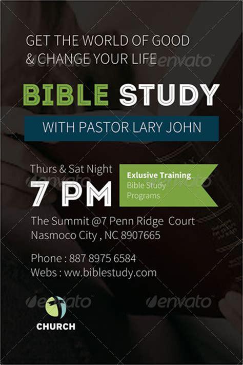 15 Chosen Premium Psd Templates Bible Study Flyer Template