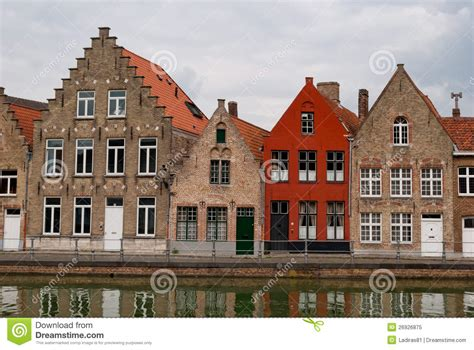 belgium houses bruges belgium houses along the channel royalty free stock photo image 26926875