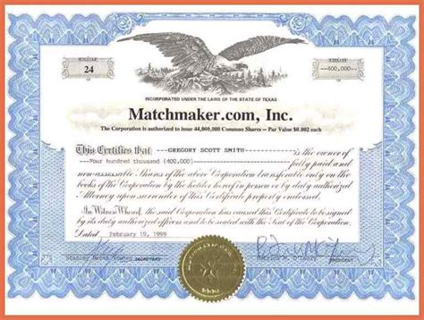 corporate stock certificate template stock certificate template word bio exle