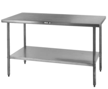 economy stainless steel kitchen island work table remodelista