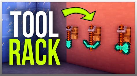 Tool Rack Minecraft by Working Tool Rack In Minecraft Tutorial Included