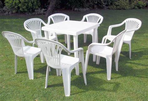 mobili da giardino in plastica mobili in plastica giardino