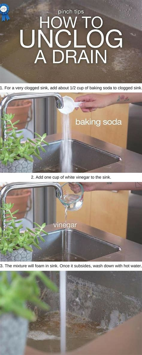Best Way To Unclog A Kitchen Sink Drain Best 25 Unclog Sink Ideas On