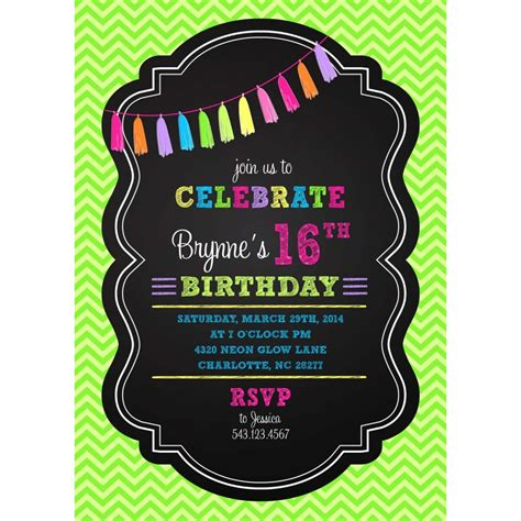 neon party invitations plumegiant com