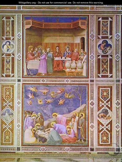 Wedding At Cana Giotto by The Wedding Feast At Cana And The Deposition Of