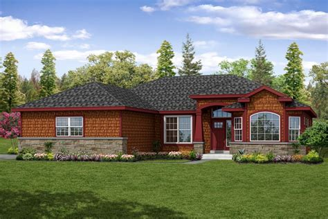 Shingle Home Plans by New Shingle Style Ranch House Plan Is Charming And