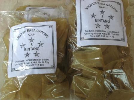 Produk Ukm Bumn Beras Cap Gunung krupuk puli cap bintang krupuk tradisional dengan variasi