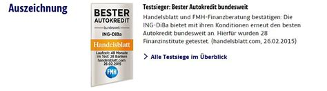 Autokredit Probezeit by Ing Diba Autokredit 2018 Konditionen Des Autokredits Im
